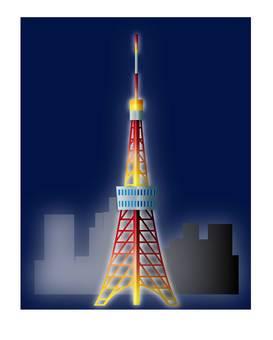 밤의 도쿄 타워