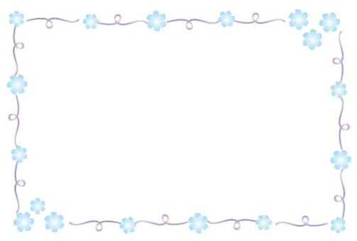 Cute little light blue flower frame frame