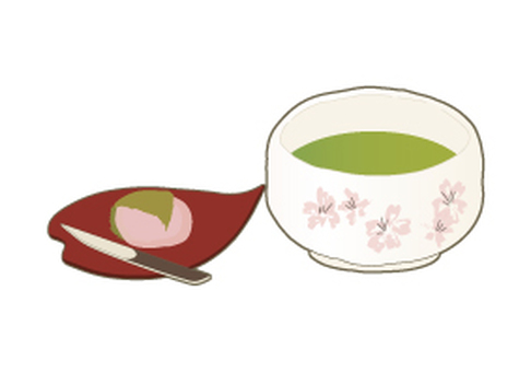 Matcha and Japanese sweets set _ Sakurakamo