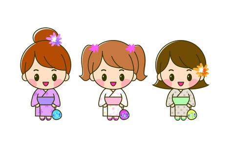 유카타 3 자매
