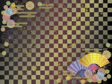 扇子和菊花框架1