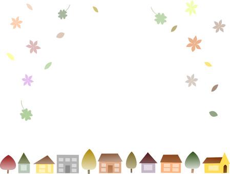 Autumn color town 01