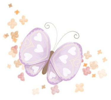 Butterfly and small flowers * small