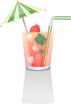 Refreshing strawberry smoothie