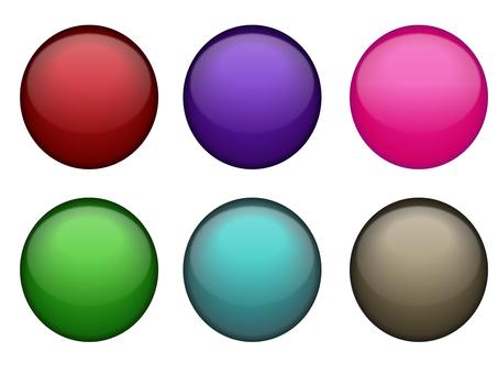 Round button set
