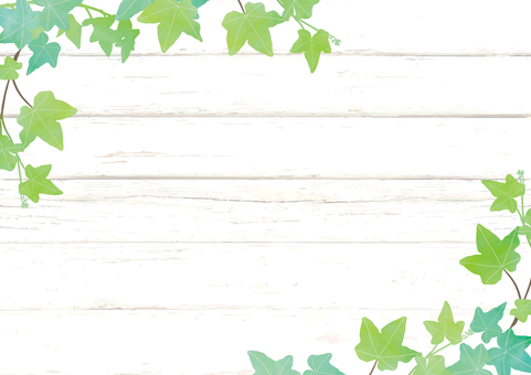 绿色和木板框架