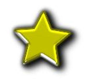 Glass star GOLD