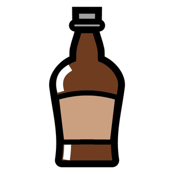 Liquor bottle sake icon Whiskey