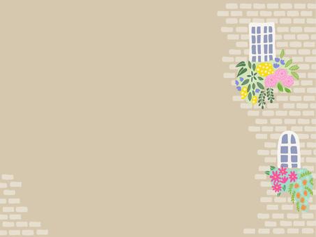 Flower postcard by the window 03