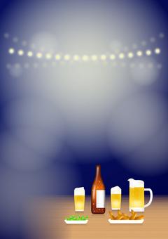 Night beer garden (vertical)