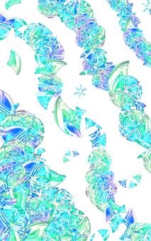 Glass motif scattering