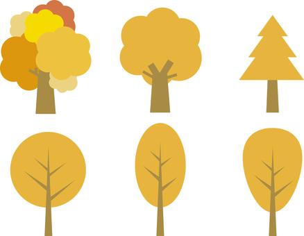 Autumnal leaves trees