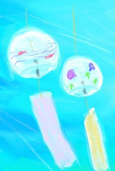 Wind chimes and wind postcards
