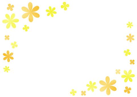 오렌지 꽃 프레임