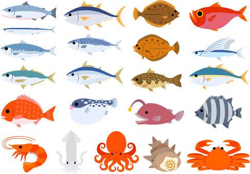 Deniz ürünleri seti