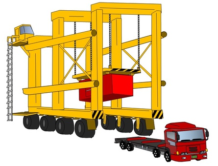 Load handling to harbor truck