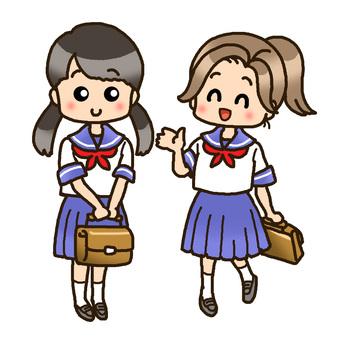 Summer school girls student