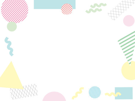 Memphis pattern frame