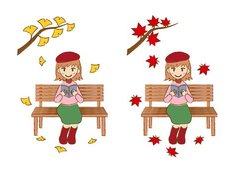 Woman _ reading autumn