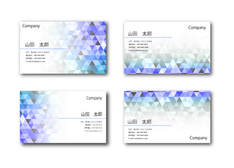 Business card looking like sparkling 1 (blue)