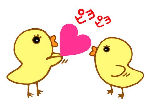 友好的小雞