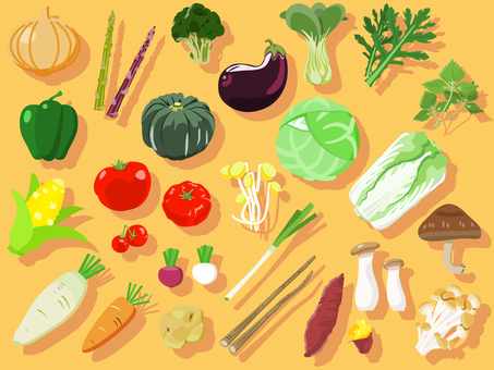 食品-野菜アイコンセット