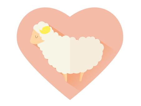 Hearts and sheep