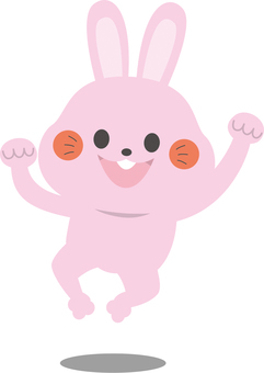점프하는 토끼