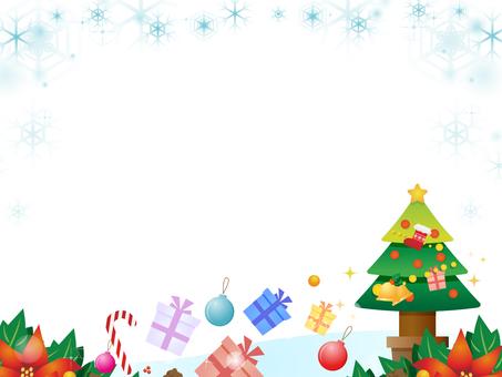Christmas motif decorative frame 4