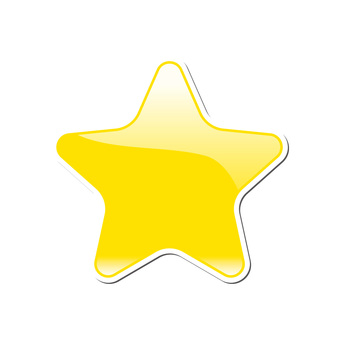 Star type solid icon button