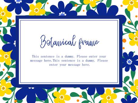 Scandinavian style flower frame 01 / blue a