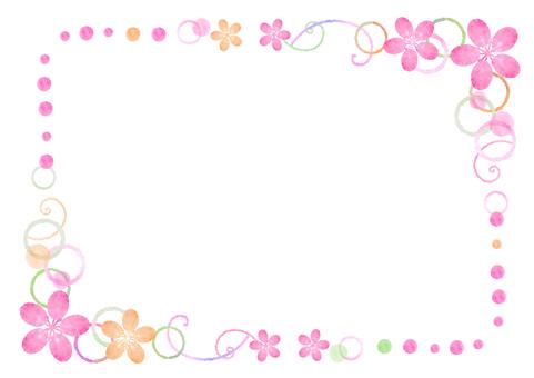 Spring Material 116 Flower Frame