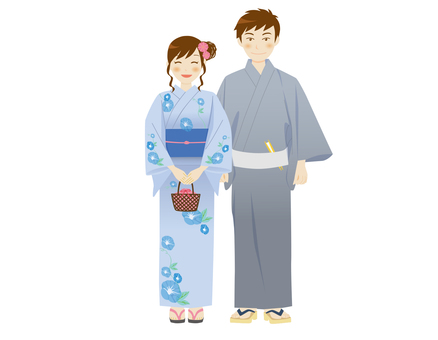 Yukata men and women