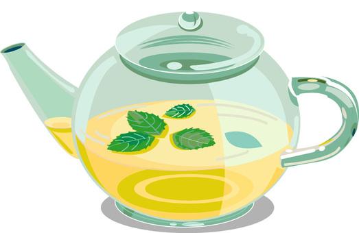 Herbal tea pot