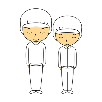 Work clothes white 1