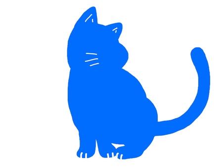 Cat animal monotone color