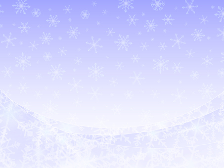 Snow crystal background material -4
