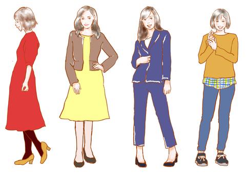 Women's on-off style