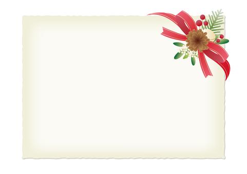 Red ribbon card _ Christmas