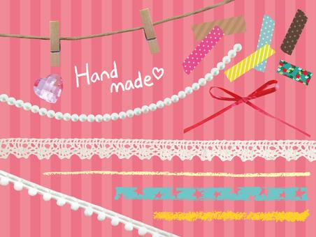 Handmade materials various