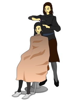While cutting in a hairdresser · · 3