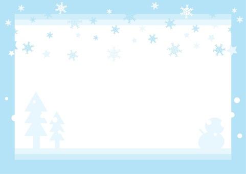 Snowfall frame