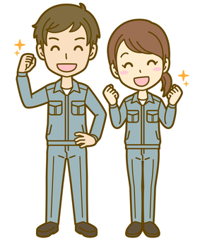 Men and women (workers): C_ 気 04FS