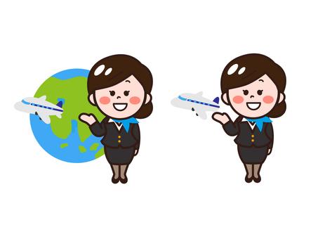 Cabin attendant Domestic / international flight set