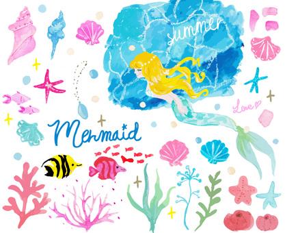 Mermaid material set
