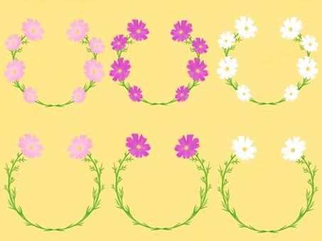 秋桜フレーム、セット2