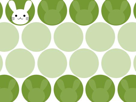 Rabbit polka dot background green