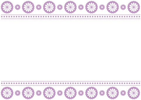 Frame - Flower Lace - Purple