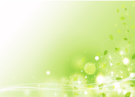 Green sparkling background material (with wave)