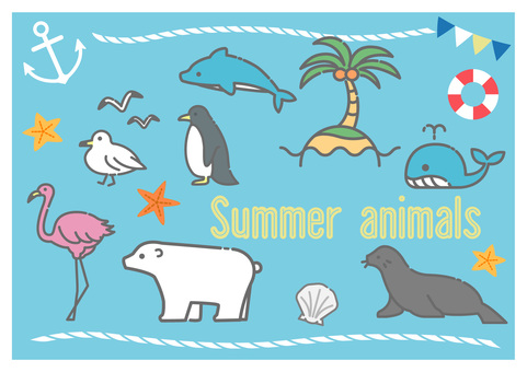 Summer animals and creatures
